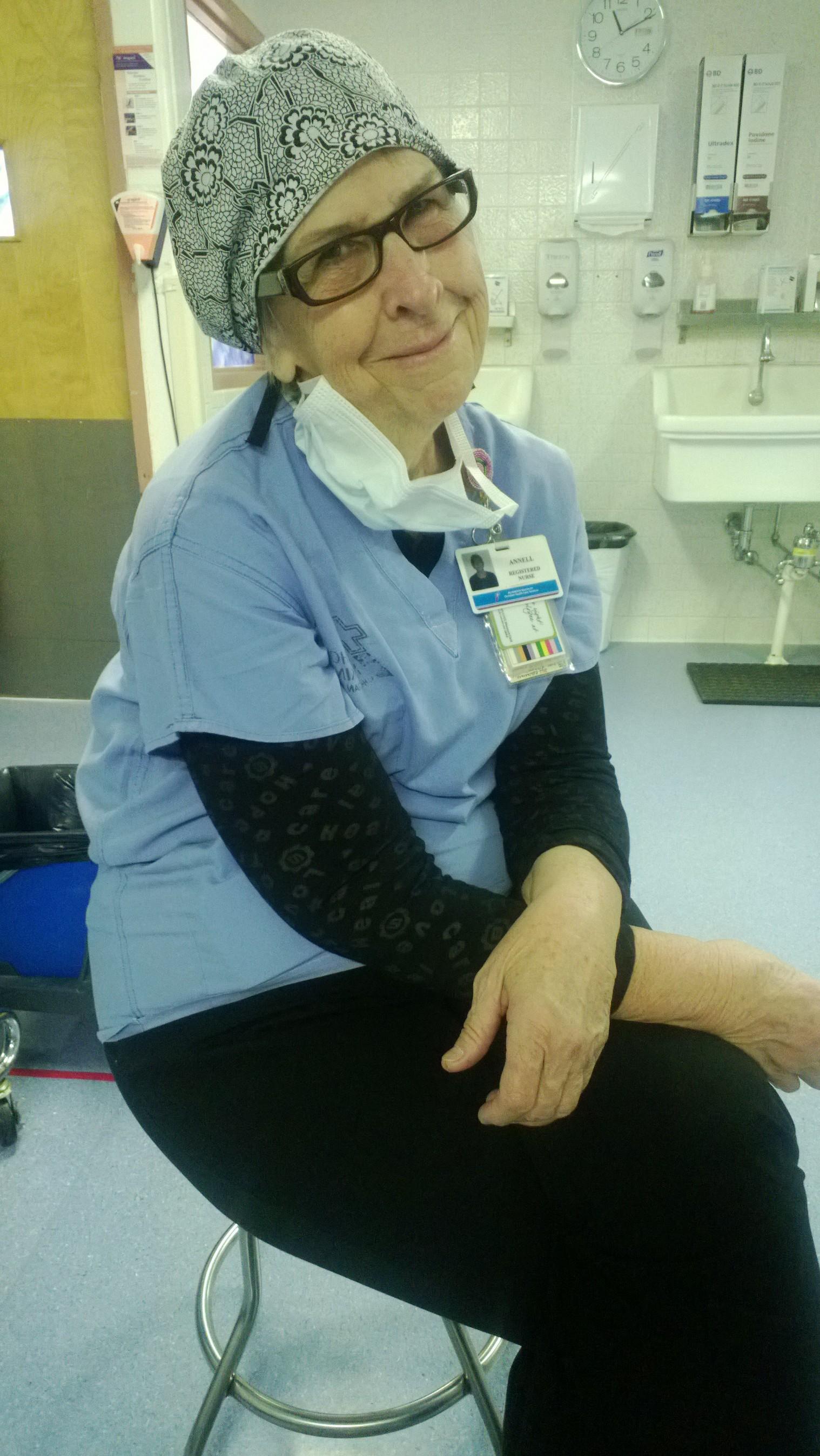 Real nurse in hospital
